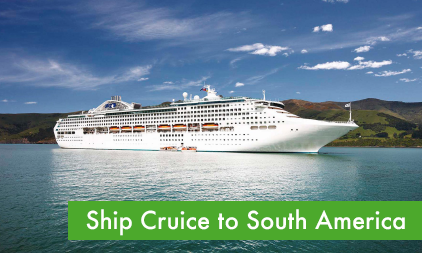 Ship cruise to South America